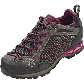Hanwag Makra Low GTX Shoes Damen asphalt/dark garnet